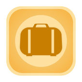 Travel suitcase icon — Stock Photo