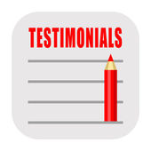 Testimonial icon — Stock Photo