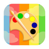 Painting tools icon — Stock Photo