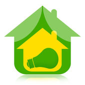 Eco house and green energy — Stock Photo