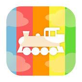Locomotive icon — Stock Photo