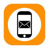Smartphone message icon — Stock Photo