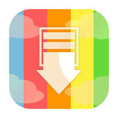Download icon — Stock Photo