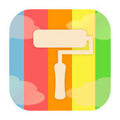 Paint roller icon — Stock Photo