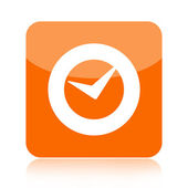 Check mark or clock icon — Stockfoto