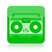 Boombox icon — Stock Photo