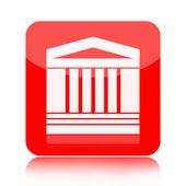 Edificio classico con icona colonne — Foto Stock
