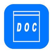 Doc icon — Foto de Stock