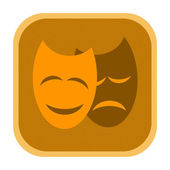 Dramatic theater masks icon — Stock Photo