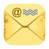 E mail retro envelope icon — Stock Photo