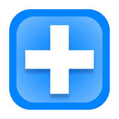 Medical cross icon — Foto de Stock