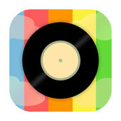 Vinyl disc icon — Stock Photo