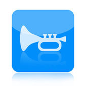 Trumpet icon — Stock Photo