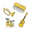 Musical instruments set — Stock Photo #48780809