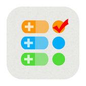 Medical heath checklist icon — Photo