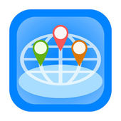 Gps icon — Foto de Stock