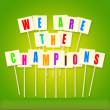 We are the champions — Stock Photo