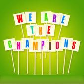 Biz şampiyonlar vardır — Stok fotoğraf