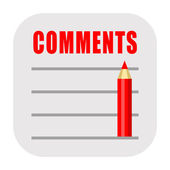 Comments icon — Stock Photo