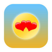 Love hearts and sun — Stock Photo