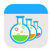 Laboratory icon — Stock Photo