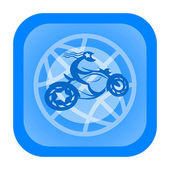 Motorcycle word icon — Foto de Stock