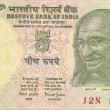 Stock Photo: Indi10 rupee note with portrait of Gandhi