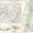 Stock Photo: Map of battles of South Mountain and Vicksburg