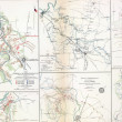 Stock Photo: Map of battles of Stones River, Murfreesborough