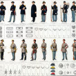 Uniforms and badges of Union and Confederate cavalry — Stock Photo #12740702