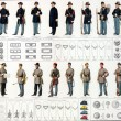 Stock Photo: Uniforms and badges of Union and Confederate cavalry