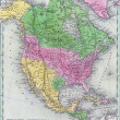 Antique map of North America — Stock Photo