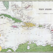 Antique map of Cuba and the Caribbean — Stock Photo #12741010
