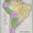 Antique map of South America — Stock Photo #12741030
