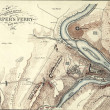 Map of Harper's Ferry, West Virginia in 1864, — Stock Photo #12742098