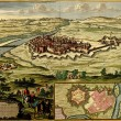 Stock Photo: Antique map of Plof fortified city of Casale Monferrato ,