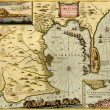 Antique map of  Gibraltar, — Stock Photo