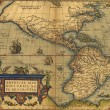 Stock Photo: Antique Map of North and South America