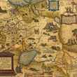Stock Photo: Antique Map of Russiand Tartary