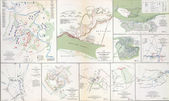 Maps of the battlefields of Manassas — Stock Photo
