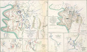 Maps of the battlefield of Antietam, 1862 — Stock Photo