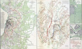 Map of battles of Gettysburg — Stock Photo