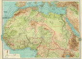 Antique map of Northern Africa. — Stock Photo
