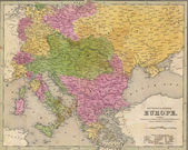Antique map of Eastern Europe — Stock Photo