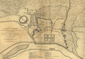 Map of the Siege of Savannah — Stock Photo