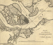 Map of the Siege of Charleston, South Carolina, — Stock Photo