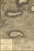Map of battle of Camden, 1781. — Stock Photo