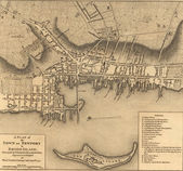 Map of the town of Newport Rhode Island, 1777. — Stock Photo