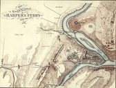 Map of Harper's Ferry, West Virginia in 1864, — Stock Photo