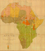 Language map of Africa — Stockfoto